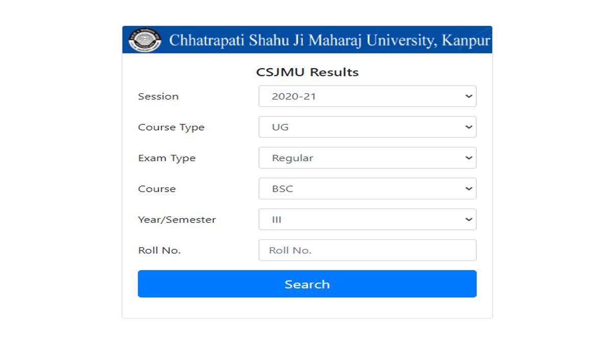 CSJM Kanpur University Result 2021